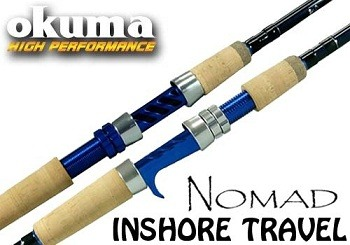 Okuma Nomad Inshore Saltwater Multi Action Travel Rods NTi C 703M MH 2