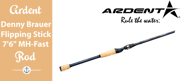 Ardent Denny Brauer Flipping Stick Fishing Rod, Blue/Black, 7-Feet 6-Inch, Medium-Heavy, Fast Review