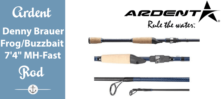 Ardent Denny Brauer Frog-Buzzbait Fishing Rod Blue-Black 7 ft 4 MH-Fast Featured