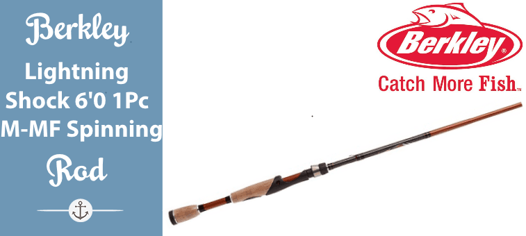Berkley Lightning Rod Shock Spinning Rod (6-Feet 0-Inch - 1 Piece - M - MF) Featured
