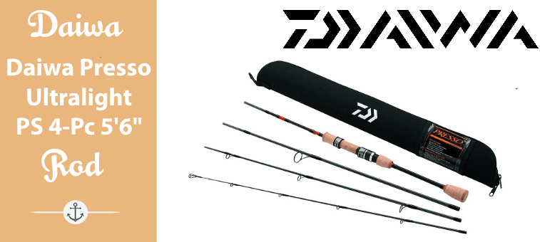 Daiwa Presso Ultralight Pack Spinning Rod 4-Piece 5 ft 6 Featured