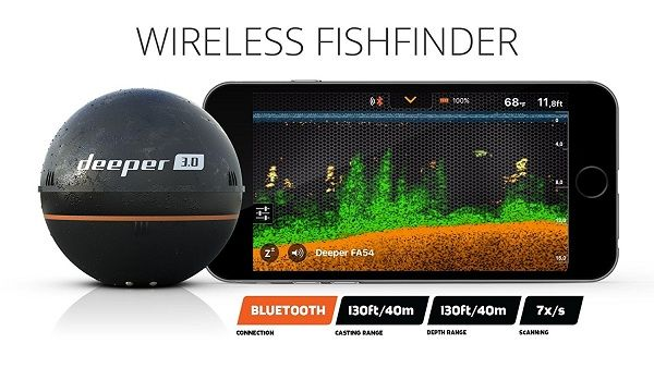Deeper Smart Sonar iPhone iOS and Android Smatphone and Tablet Compatible 3