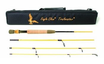 Eagle Claw Trailmaster Light Spin and Fly Rod 7 ft 6 in 4pc 1
