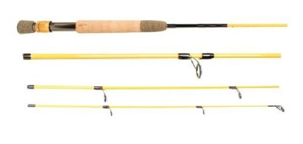Eagle Claw Trailmaster Light Spin and Fly Rod 7 ft 6 in 4pc 3