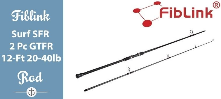 Fiblink-Surf-Spinning Fishing Rod 2 Pc GTFR (12-Ft 20-40lb) Featured