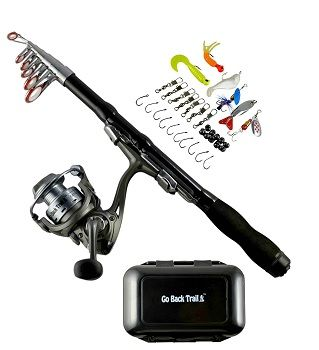 Fishing Rod Kit Backpacking Ultralight Spinning Rod&Reel 1