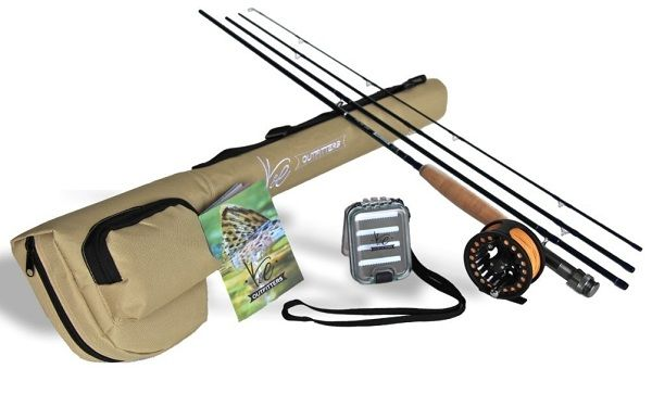 K&E Outfitters Drift Series 5wt Fly Fishing Rod and Reel Complete Package 3