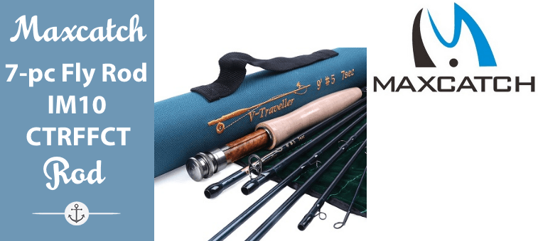 Maxcatch for Traveler 7-piece Fly Rod IM10 Carbon Travel Rod Fly Fishing with Cordura Tube Featured
