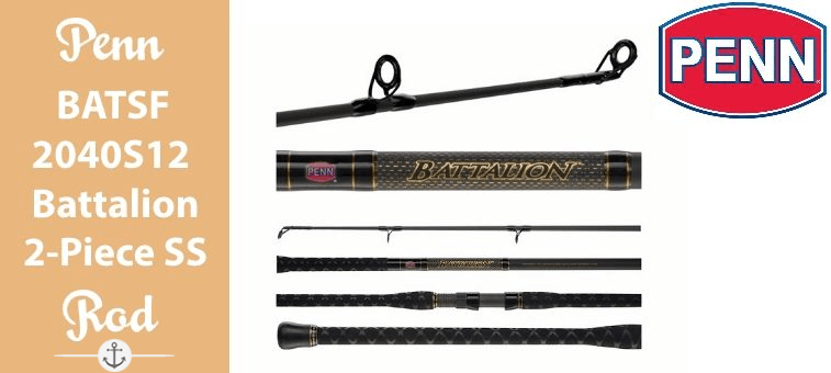Penn-BATSF2040S12-Battalion 2 Piece Surf Spinning Rod Featured