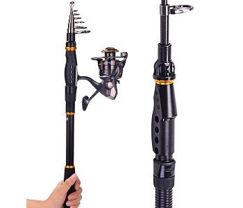 Sougayilang Fishing Rod Reel Combos Carbon Telescopic Fishing Rod Pole 1