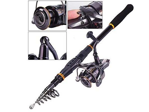 Sougayilang Fishing Rod Reel Combos Carbon Telescopic Fishing Rod Pole 3