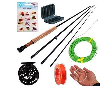Sougayilang Saltwater Freshwater Fly Fishing Rod with Reel Combo Kit 1