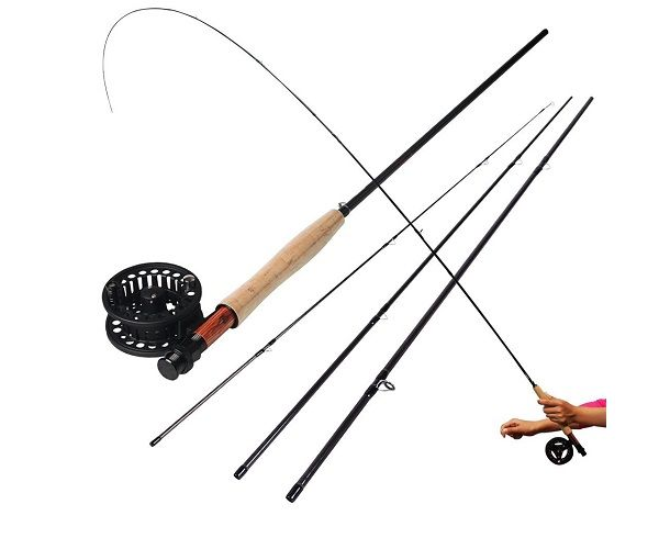 Sougayilang Saltwater Freshwater Fly Fishing Rod with Reel Combo Kit 3