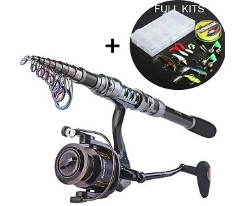 Sougayilang Telescopic Fishing Rod and Fishing Reel Combo Kits 1