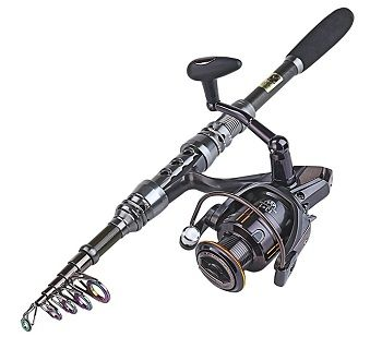 Sougayilang Telescopic Fishing Rod and Fishing Reel Combo Kits 4