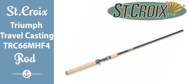 St. Croix Triumph Travel Casting Rod, TRC66MHF4 Featured