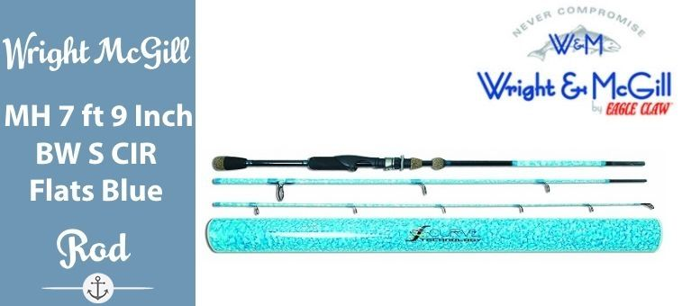 Wright McGill Medium Heavy 7-Feet 9-Inch Blair Wiggins S-Curve Inshore Rod, Flats Blue Review