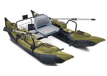 Classic Accessories Colorado Inflatable Pontoon Boat With Motor Mount 1