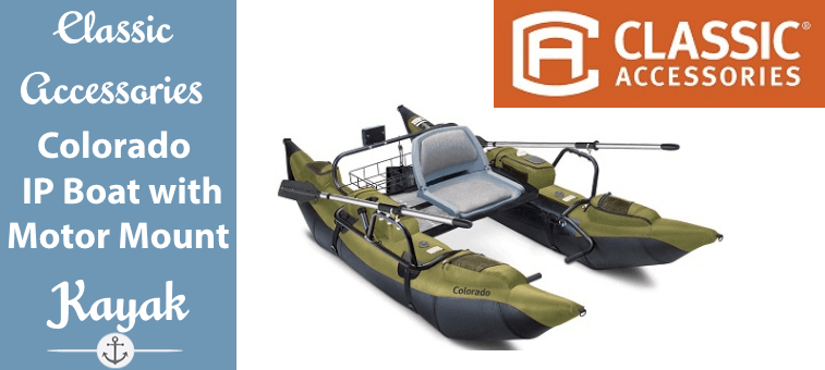 Classic Accessories Colorado Inflatable Pontoon Boat With Motor Mount Featured