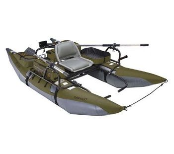 Classic Accessories Colorado XT Inflatable Pontoon Boat With Transport Wheel & Motor Mount 1