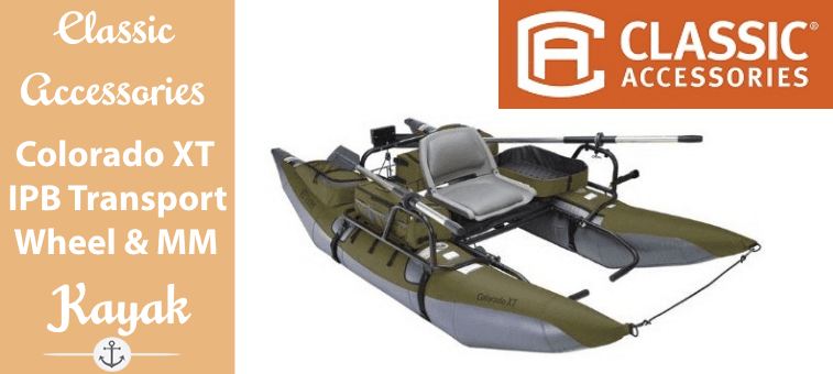 Classic Accessories Colorado XT Inflatable Pontoon Boat With Transport Wheel & Motor Mount Featured