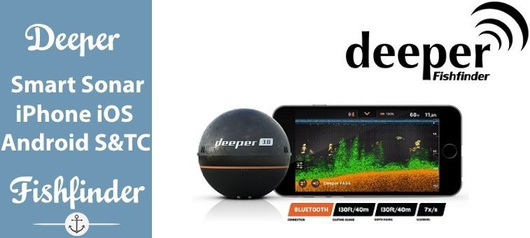 Deeper-Smart Sonar iPhone iOS and Android Smatphone and Tablet Compatible Featured