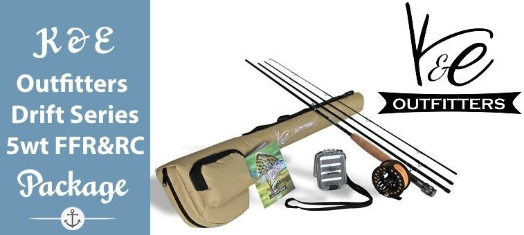 K-E-Outfitters-Drift Series 5wt Fly Fishing Rod and Reel Complete Package Featured