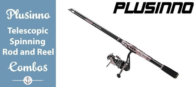 PLUSINNO-Spinning-Rod and Reel Combos FULL KIT Telescopic Fishing Rod Pole Featured