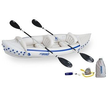 Sea Eagle 330 Inflatable Kayak with Deluxe Package 1