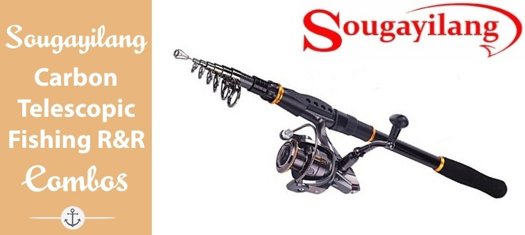 Sougayilang Fishing Rod Reel Combos Carbon Telescopic Fishing Rod Pole with Spinning Reel Line Lures Accessories…Review