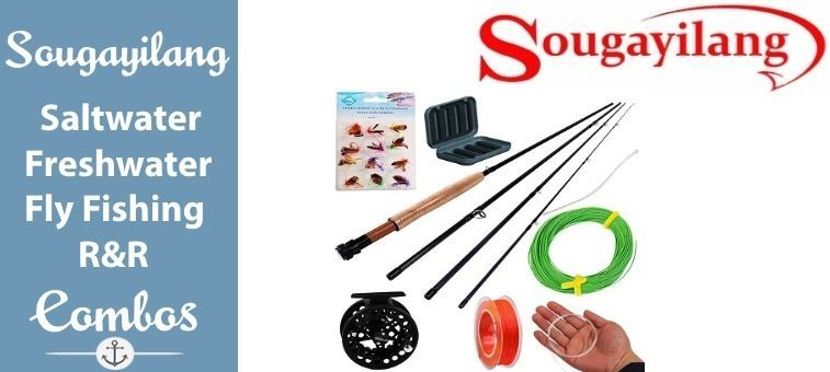 Sougayilang-Saltwater-Freshwater Fly Fishing Rod with Reel Combo Kit Featured