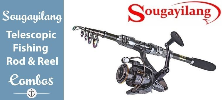 Sougayilang-Telescopic-Fishing Rod and Fishing Reel Combo Kits Featured