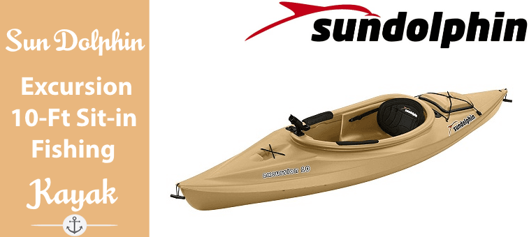 Sun Dolphin Excursion 10-Foot Sit-in Fishing Kayak Featured