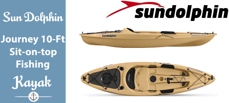 Sun Dolphin Journey 10-Foot Sit-on-top Fishing Kayak Featured