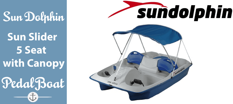 Sun Dolphin Sun Slider 5 Seat Pedal Boat with Canopy Featured