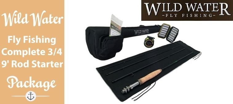 Wild-Water-Fly Fishing Complete 3-4 9 ft Rod Starter Package Featured