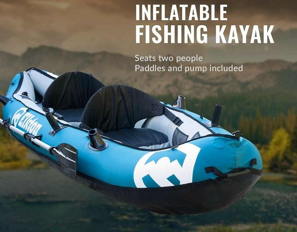 Elkton Outdoors 10 Foot Inflatable Kayak 3