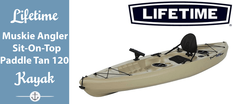 Lifetime Muskie Angler Sit-On-Top Kayak with Paddle, Tan, 120 Featured