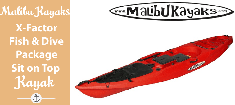 Malibu Kayaks X-Factor Fish and Dive Package Sit on Top Kayak Featured