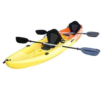 Nixie Sports 13ft Sit On Top Tandem Fishing Kayak With Backrests – Inc 2 Paddles 1