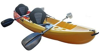 Nixie Sports 13ft Sit On Top Tandem Fishing Kayak With Backrests – Inc 2 Paddles 2