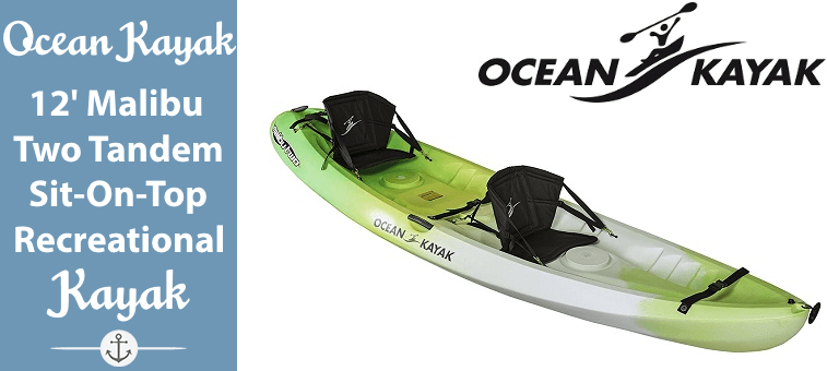 Ocean Kayak 12-Feet Malibu Two Tandem Sit-On-Top Recreational Kayak Featured