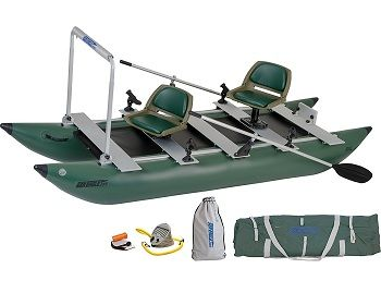 Sea Eagle Green 375fc Inflatable FoldCat Fishing Boat 1